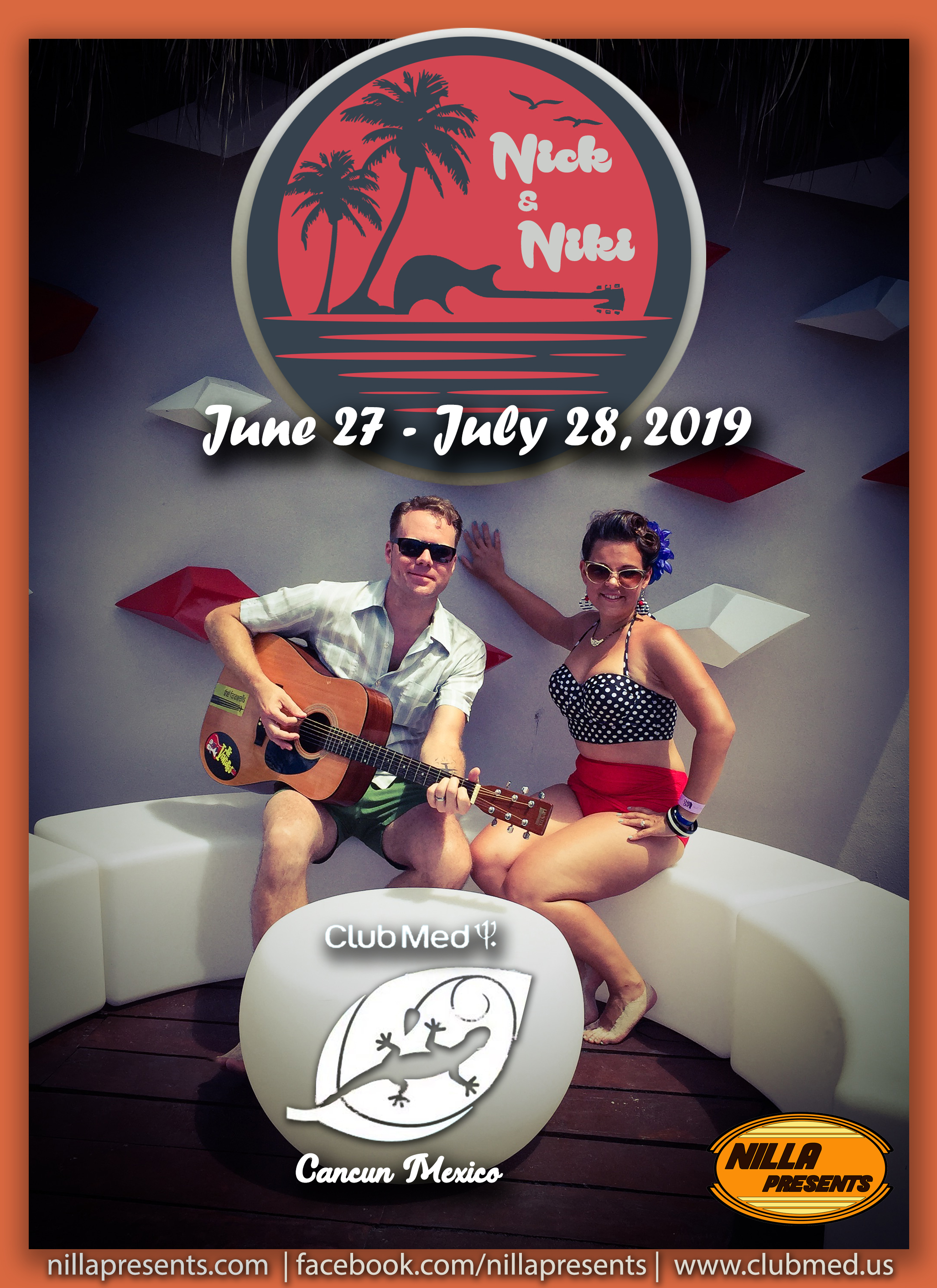 Nick and Niki Poster JuneJuly2019 Cancun Club Med